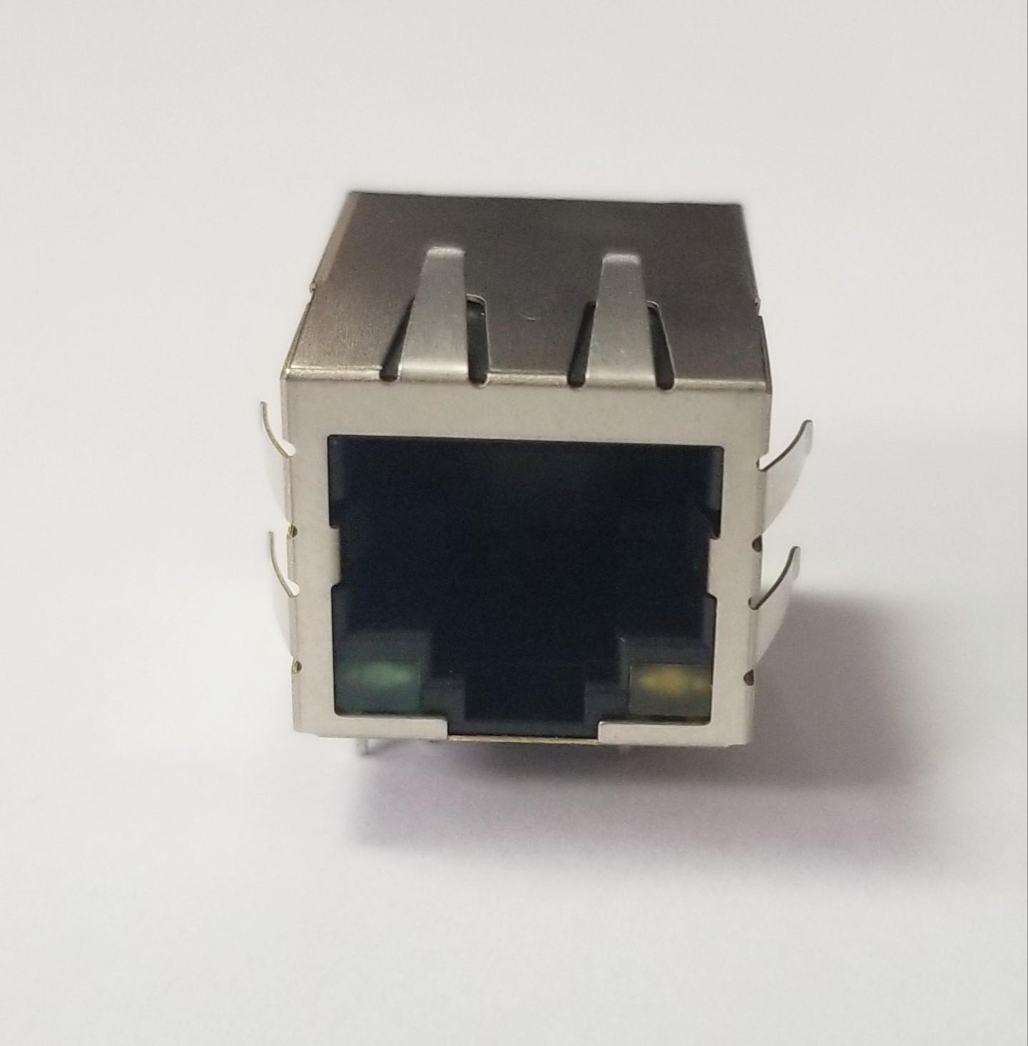 Modular Jack, Type F4, 8P8C Transformer 100MB - MJA-110VD1-FG
