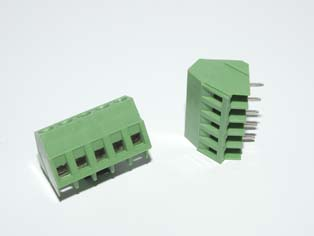 One Piece Rising Clamp Screw Terminal Blocks - TBGB-5.08
